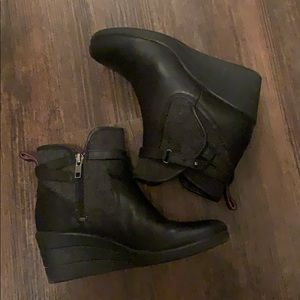 Ugg black leather booties